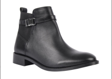 Black leather chelsea boots from Woolworths
