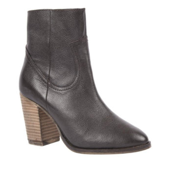 Chocolate leather zip up boots from Woolworths