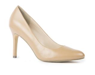 Nude leather heels (Woolworths)