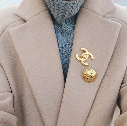 Brooch and coat - Blogin Lovin