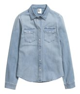 H&M: Fitted denim shirt