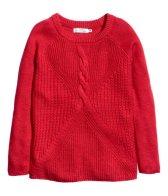 H&M: Red knit jumper
