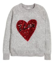 H&M: Sequined jumper