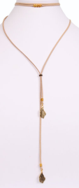 Lacey Luck - Suede wrap choker