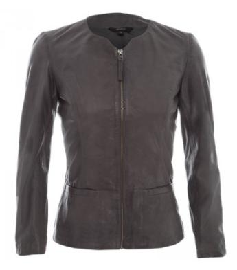 Poerty - Grey leather jacket