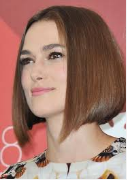 Sleek A-line bob below the chin