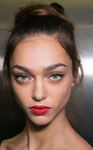 Harpers Bazaar - Red lip