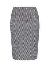 Jacquard print pencil skirt