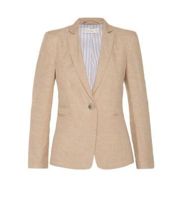 Natural linen blazer