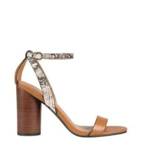 Snake skin and tan sandals